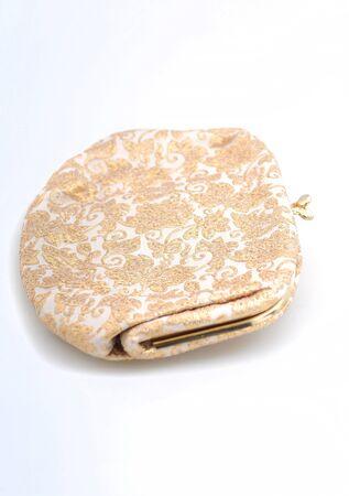 retro purse with gold embroidery for a pretty accessory Stock Photo