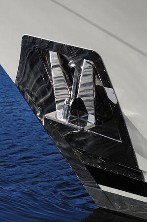 Close up of anchor on yacht