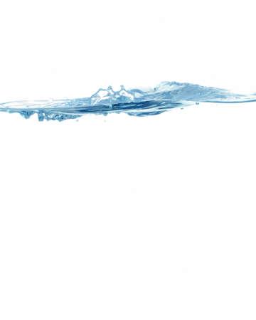 blue water splashing on white background Stock Photo