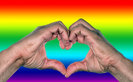 gay marriage: Equality concept for gay marriage or homosexual love