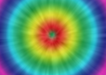 un lazo psicodélico colorido fondo del teñido con una mirada retro Foto de archivo
