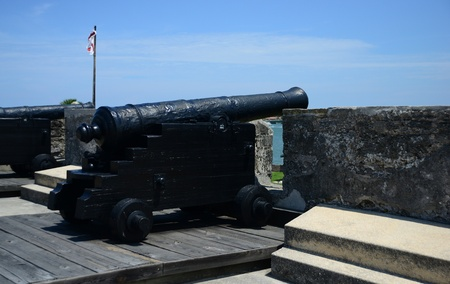 marcos: cannons at Castillo de San Marcos fort in St. Augustine, Florida