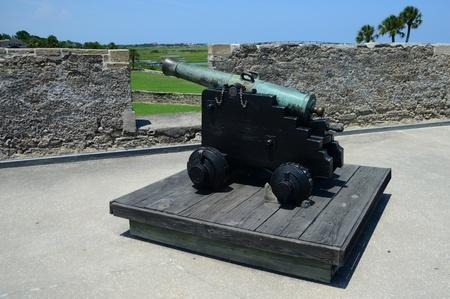 marcos: cannon at Castillo de San Marcos fort