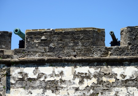 marcos: cannons ready for battle at the Castillo de San Marcos fort
