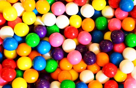 multicolored gumballs: colorful gumball or bubblegum background  Stock Photo
