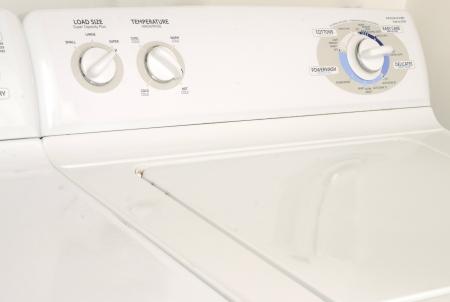dryer: white washing machine or washer and dryer