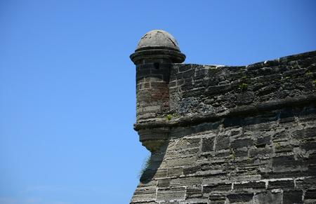 sentry: Sentry lookout tower Castillo de San Marcos fort in Florida