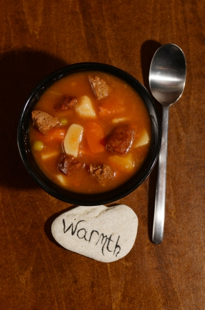 the warmth: warmth and country beef stew for comfort food Stock Photo