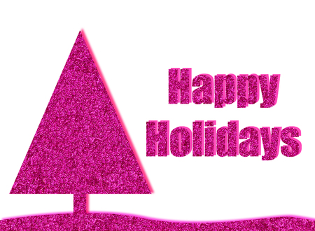 glitzy: hot pink christmas card background with glitter