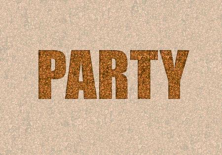 glitzy: wild party in gold glitter for a glitzy background