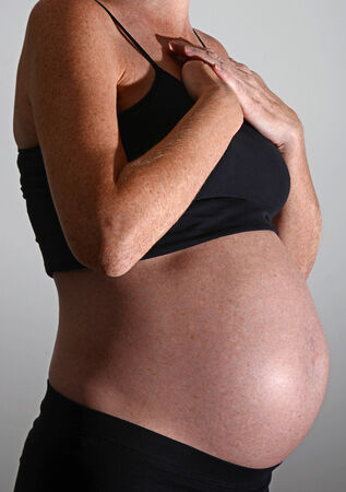acid reflux or heartburn and pregnancy Stock Photo