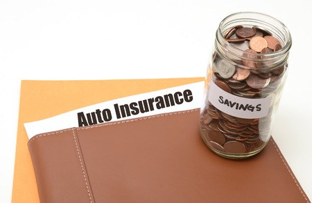 save money on auto or car insurance concept