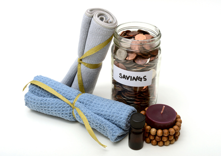 beauty treatment: spa services or beauty treatment savings concept
