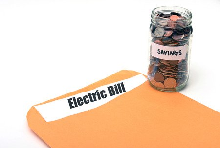 saving money on electric or energy costs concept