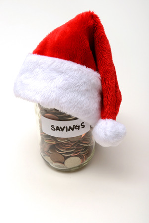 christmas savings: winter holiday savings at christmas concept Stock Photo