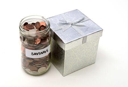 christmas budget: savings on gifts or holidays at christmas concept