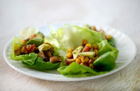 vegan lettuce wraps and healthy eating Zdjęcie Seryjne