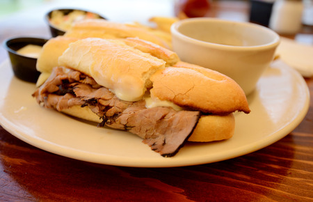 jus: French Dip or Beef Dip Sandwich