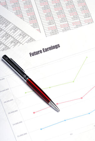 future earnings: future earnings report conept