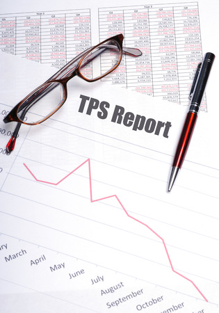 Testing Procedure Specification Report  or TPS Report concept 版權商用圖片