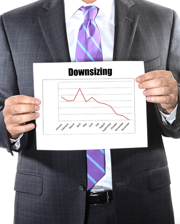 downsizing: downsizing business concept