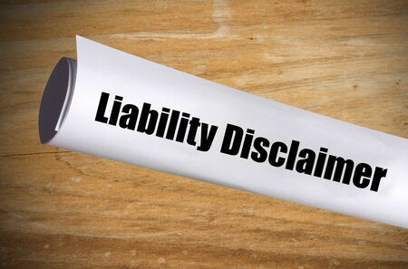 Official form for a liability disclaimer