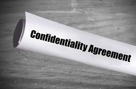 A Confidentiality Agreement Legal Document Stock Photo Picture And