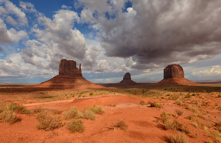 Majestic Monument Valley landscape with nobody Stock Photo