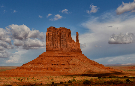 old west: Monument Valley famous left mitten monument from old west and westerns