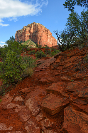 southwest: Beautiful red rock landscape image in Southwest in Sedona Stock Photo