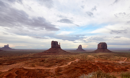 Monument Valley buttes in the american southwest