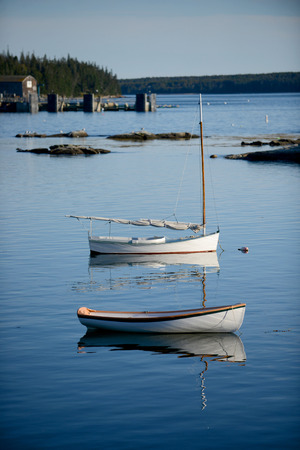 lobster boat: Sailboats in Scenic fishing village in Maine near Acadia National Park