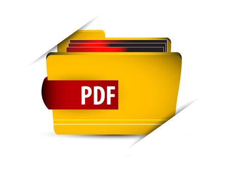 Vector icon file with pdf Vector