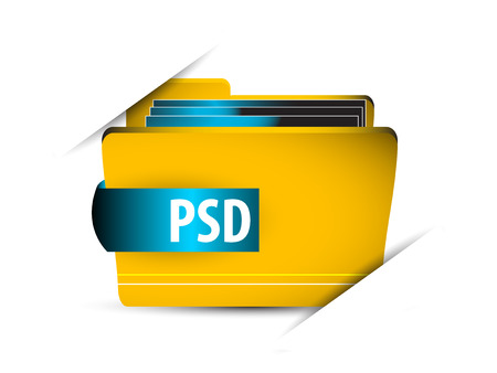psd: Vector icon file with psd Illustration