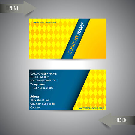 company profile: modern business card template Illustration