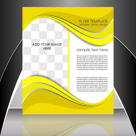 Professionelle Business Flyer Vorlage oder Corporate Banner Standard-Bild - 26767465