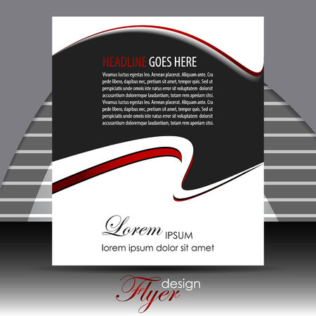 colorfull: Professional business flyer template or corporate banner