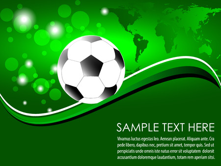 Soccer, football background Vector