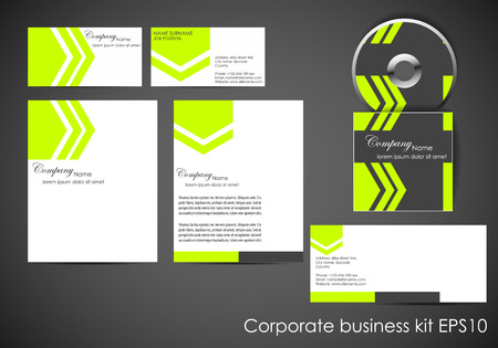 Professional corporate identity kit or business kit Vector