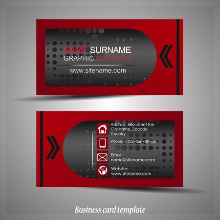 visiting card: Abstract professional business card or visiting card