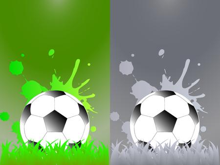 抽象的なスポーツ サッカーの背景 - テンプレート