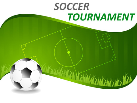 Abstract sport soccer background - template Illustration