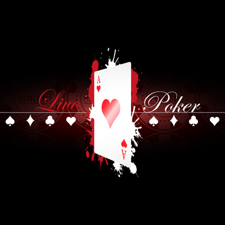 Live Poker background with game elements