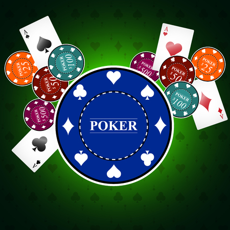 Poker background with game elements