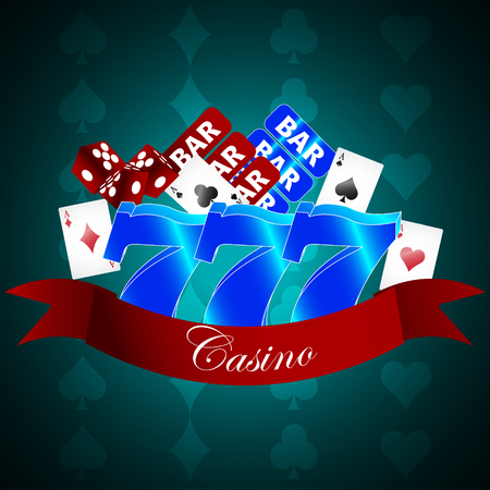 Vector background with casino gaming elements Vector