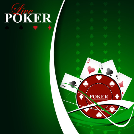 hold em: Poker background with game elements