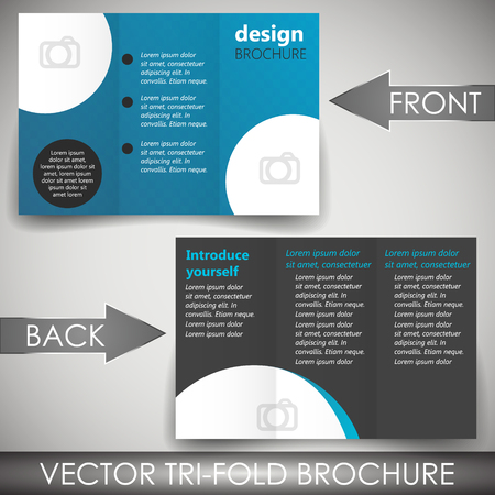 Tri-fold corporate business store brochure Stock Vector - 28013318