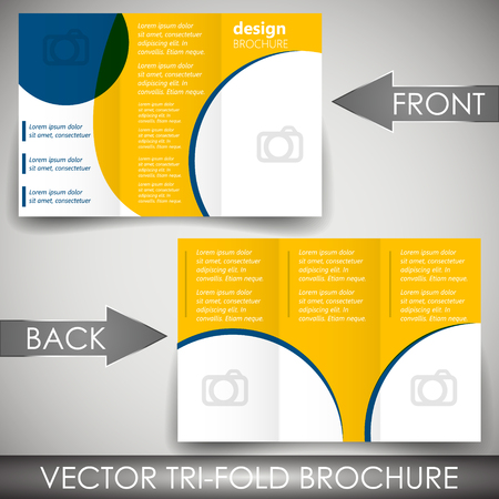 Tri-fold corporate business store brochure Illustration