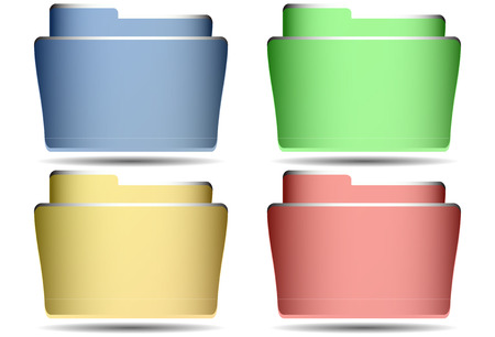 File folder vector isolated set
