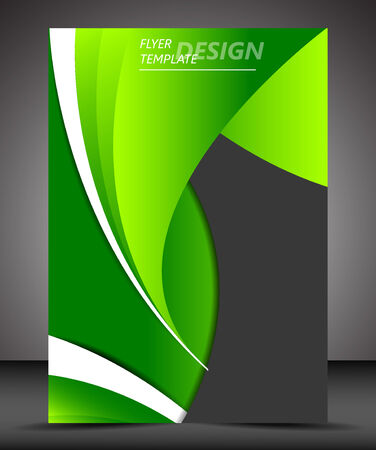Professional business flyer template or corporate banner Vector